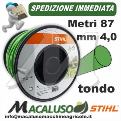 Filo nylon Stihl tondo verde mm 4,0 x 87 metri 00009303603 decespugliatore