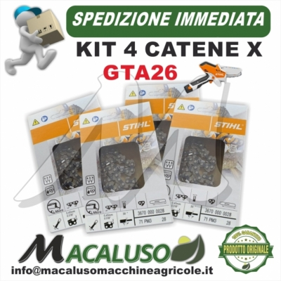 Catena Stihl GTA26 Passo 1/4 sp.1,1 maglie 28 Potatore GTA 26 36700000028