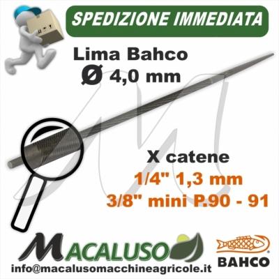 Lima o Tondino Bahco 5/32 mm. 4,0 affilatura catena motosega
