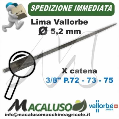 Lima o Tondino Vallorbe 13/64 mm. 5,2 affilatura catena motosega