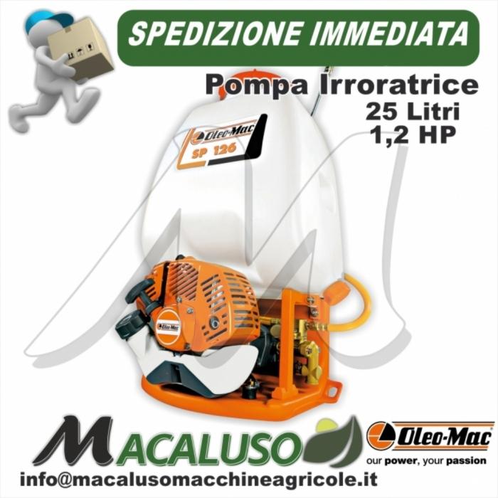 Pompa irroratrice Oleo Mac SP 126 irroratore spalleggiato 25 lt disinfettazione sanificazione
