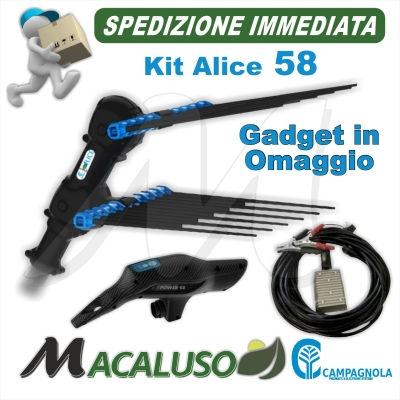 Abbacchiatore elettrico a Batteria Campagnola Alice 58 Premium NEW 2020 Asta alluminio e carbonio + omaggio