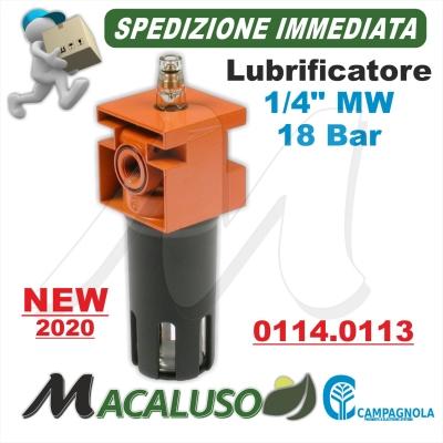 "Lubrificatore ad olio 1/4"" F. motocompressore Campagnola Hobby Professional kit oliatore sistema lubrificazione 0114 0113"