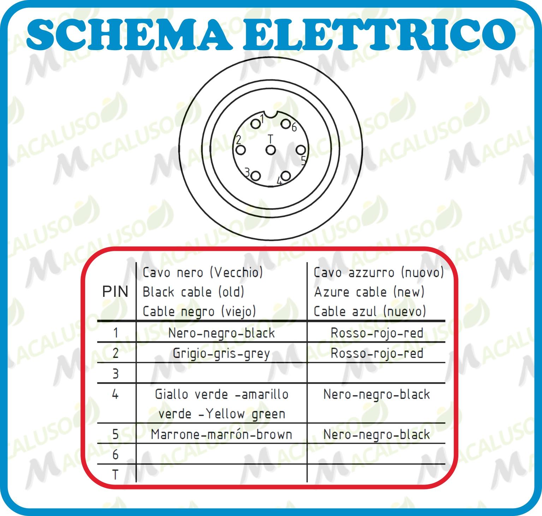 Schema Elettrico Per Semaforo : Connettore presa volante pin terra cavo elettrico